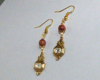 EARRINGS BAROQUE CHARM AND SUNSTONE