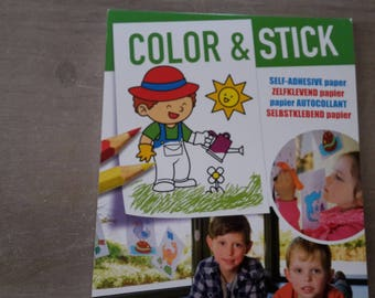 Coloring paper stickers
