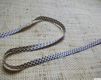 Bias fancy 14mm cotton gingham pattern