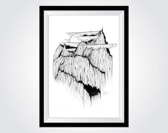 "A3 Mountain Landscape Fine Art Print - Canadian Bugaboos - (approx. 12"" x 16.5"")"