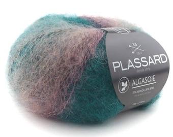 Skein of silk and alpaca knitting ALGASOIE - Plassard 50 colors