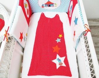 Sleeping bag 2nd age theme red circus