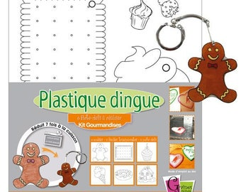 Kit to make of plastic crazy 4 patterns drawn ready