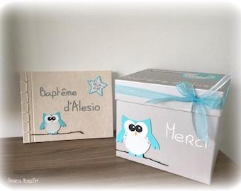 Guestbook bapeme OWL theme blue stars