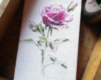 Rose Cross Stitch Pattern, Cross Stitch PDF, Flower Cross Stitch Pattern