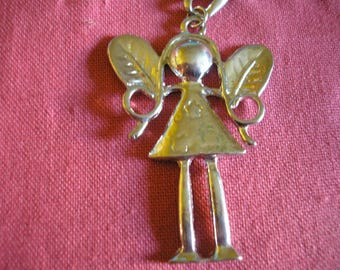 Little fairy Elf silver-plated pendant