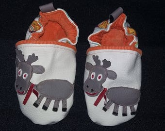 Slippers faux leather 24 months (little Moose)