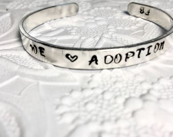 Adoption Pride Bracelet, Forever Family , Pro-Life Jewelry