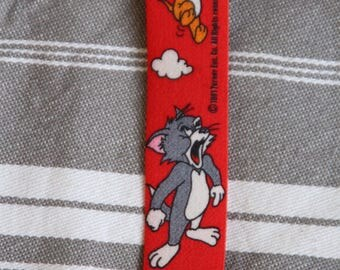 Coupon red Tom and Jerry elastic Ribbon for straps, belt 2.5 cm x 270 cm