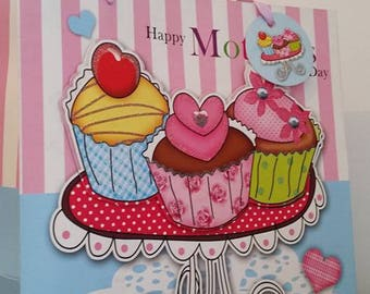 Large cup cake cardboard gift box, mother's day, happy mother's day