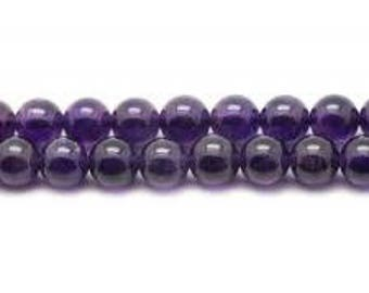 Amethyst 4 mm beads, wire
