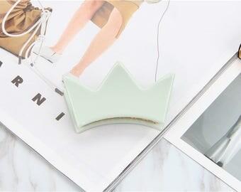 Crown Hair Claw Clip - Powder Green