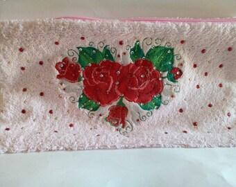 Embroidered toilet Kit and rhinestones