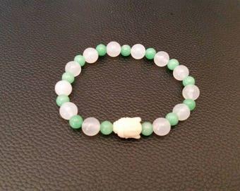 Gorgon, agate, Jade Stone Buddha bracelet