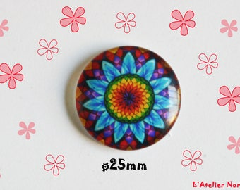 Glass cabochon illustrated ø30mm