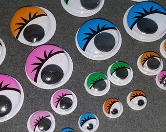 moving eyes craft, scrapbooking, eyes with eyebrows, eyes deco eyes