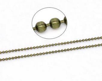 1 M Chaîne ball - 2 mm antique bronze - the dreams
