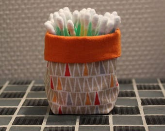 Q-tips - reversible - triangle pattern basket