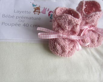 Premature baby shoes or doll 40 cms has 45 cms