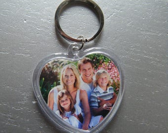 key heart to customize with photo or drawing of you or your children.