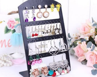 1 jewelry stand earring 24 pairs black display