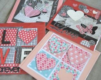 Valentine's Day card with embossed