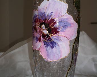 Vase hand painted by riviera-pearl