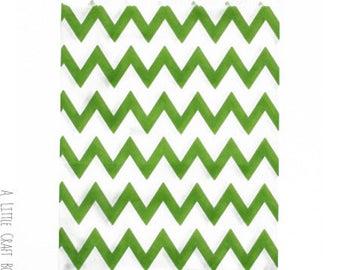 5 Green - Chevron paper bags