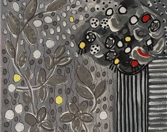 Grey Tone Floral