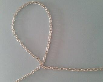 Silver chain 49 cm mesh 4 minutes