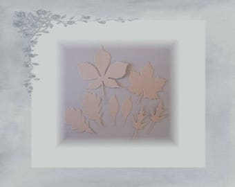 LPPO 0009 - cut leaves paper 220gr - Beige