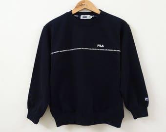 Vintage FILA Dark Blue Color Sweatshirt