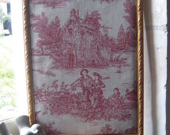 Frame collection French toile de jouy pastoral scene