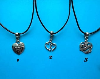 1 heart pendant with free gift pouch choice