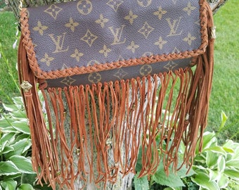 Authentic Louis Vuitton Twin GM custom made, gypsy, cowgiel, one of a kind, vintage