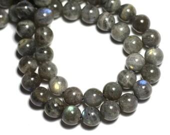 5pc - stone beads - Labradorite balls 8mm - 8741140008700