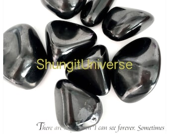 Shungite natural polished stone EMF protection,healthy earth energy,root chakra stone, pagan,reiki,yoga,spa, massage