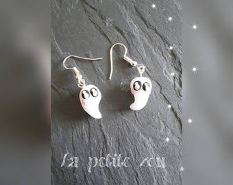 Fimo earrings little ghost