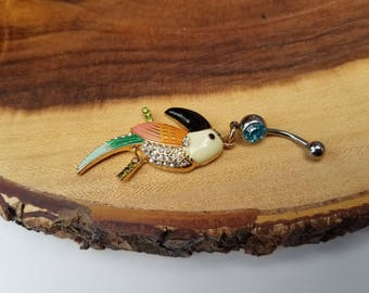 Chandelier Toucan Belly Ring