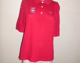 polo LACOSTE rouge t40