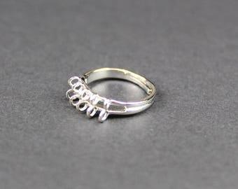 Set of 2 support rings 10 metal silver nickel hooks