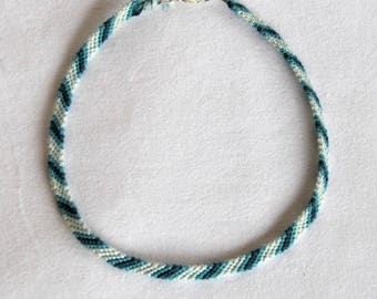 Blue Choker necklace hippie necklace choker necklace from Brazilian neck cotton woven Brasilda