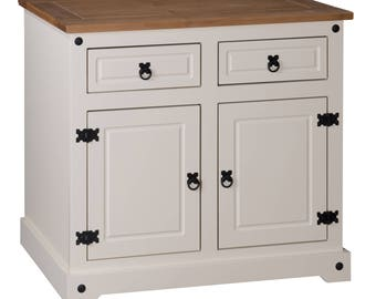 Corona painted 2 door 2 drawer sideboard