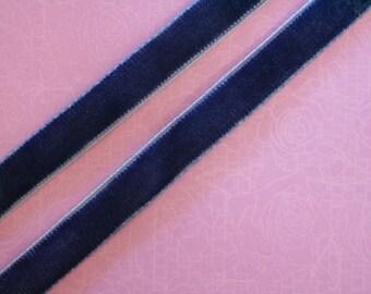 plain Navy Blue Velvet Ribbon
