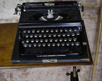 Vintage Triumph Norm 6 Typewriter 1930's/40's Working Vintage Prop Weddings