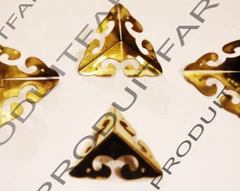12 protection shockproof gold Angle and embellishment for furniture, box corners chest 31 mm