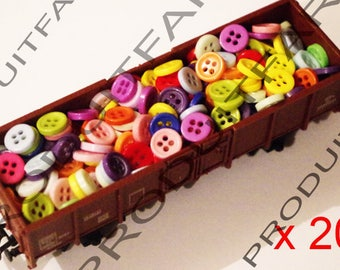 200 button resin 9 mm 4 hole blue red green blue Ros Etc sewing