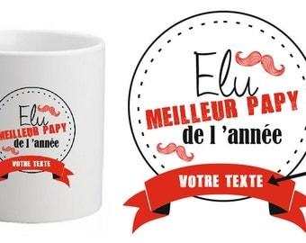"Personalized MUG ceramic ""voted best Grandpa of the year"""