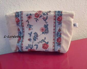 ecru Kit with pattern floral cotton fabric