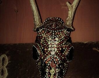 Handmade/Hand-painted animal skull-painted animal skull